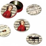 Coasters Mozart 4 w/Tin