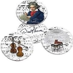 Coasters Beethoven 4 w/Tin